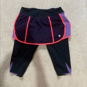 Running Shorts w/Attached Short Leggings
